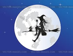 Ведьма - рисунок в векторном формате