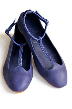 GRACE. Leather ballet flats. Womens flat shoes. US 514 by BaliELF, $100.00