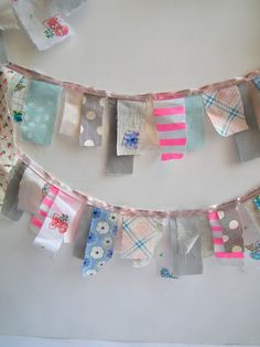 Lisa says: so cute, how about adding either some journaling with a micron pen or stamping affirmations, hmm? :-)  fabric garland