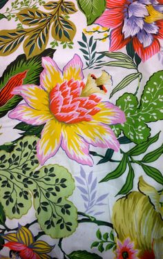 70 ideas wall paper summer vintage tropical prints for 2019 Textiles, Textile Patterns, Textile Prints, Print Patterns, Textile Design, Motif Floral, Floral Fabric, Floral Prints, Tropical Prints