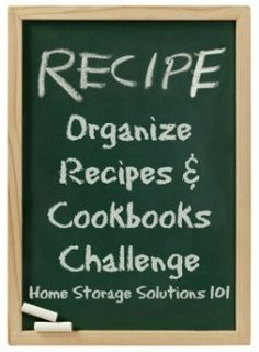 How to organize recipes and cookbooks (part of the 52 Weeks to an Organized Home Challenge)