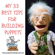 My 33 Best Tips For Building Puppets – Puppet Building World - Sculpturen - Sandwich Recipes Marionette Puppet, Sock Puppets, Hand Puppets, Finger Puppets, Homemade Puppets, Ventriloquist Puppets, Fun Places For Kids, Professional Puppets, Puppet Patterns