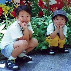 doyoung and his brother Nct Yuta, Jaehyun Nct, Gong Myung Doyoung, Nct Doyoung, Nct Life, Childhood Photos, Mark Nct, Nct Dream, Nct 127