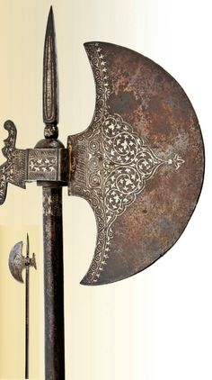 A war ax from India, 18th century.