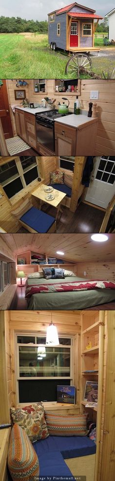 Tiny house- possibly add more windows make the space seem bigger add more natural light