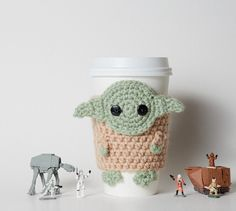 Star Wars Inspired Yoda Coffee Cup Cozy