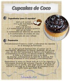 recetas de cupcakes escritas - Buscar con Google