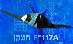 This aircraft paper model is a Lockheed F-117A Nighthawk, a variant of the single-seat, twin-engine stealth attack aircraft Lockheed F-117 Nighthawk, the p