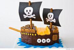 Tartas de cumpleaños divertidas, tarta barco pirata
