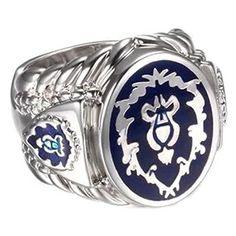 YoHo WOW World of Warcraft Alliance Ring (US#10) WOW