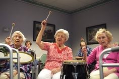 Seniors with dementia express themselves, connect with others in drumming circle - The Washington Post