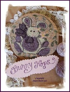 Bunny Hops Punch Needle Pattern Download by Diane Knott LLC by DianeKnottLLC on Etsy
