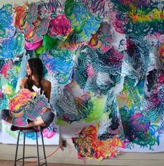 Crystal Wagner's Colourful Paper Sculptures