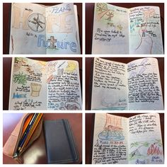 I hate writing in books but love the idea of art journaling as a way to create visual reminders of lessons learned. So, I use a Moleskine with a Saddleback Leather cover and colored pencils to create my own pocket size bible study journal. So far it has helped my bible study habits and serves as a constant reminder of His word I can carry with me to reference at any time. (klh )