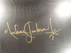 Michael Jackson SIGNED LITHOGRAPH Man in the mirror mega rare signature official | eBay