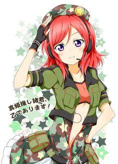 Maki Nishikino Cosplay Costume from Love Live! Manga Girl, Anime Art Girl, Anime Girls, Anime Love, Maki Nishikino, Haku, Violet Eyes, Love Live, Black Gloves