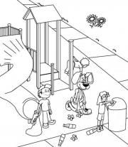 coloring playground safety