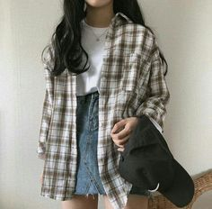 Check out this Classy summer korean fashion 6374641437 Source by clothes fashion summer Vintage Outfits, Retro Outfits, Cute Casual Outfits, Edgy Outfits, Fashion Outfits, Fashion Ideas, Fashion Styles, Fashion Clothes, Thrift Store Outfits