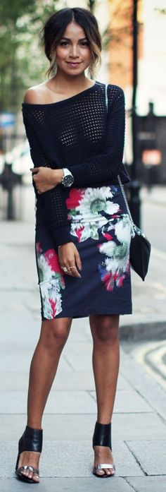 Printed Skirt Outfit by Sincerely Jules