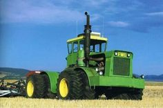 John Deere Wagner WA-17. Before Deere released the 8020, 7020 and 7520 they sold Wagner articulated tractors to fill the void in their lineup.