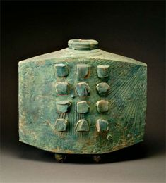 "Ted Randall, 1914-1987  Turquoise Slab Vase, 1967  20 3/4 x 22 x 7 3/4"""