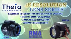Theia Technologies New Resolution Series Machine Vision, Video Security, Box Camera, New Technology, Resolutions, Future Tech
