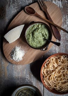 Pasta with Zucchini & Herb Sauce by carey nershi, via Flickr