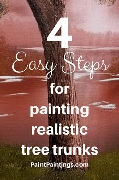 4 Easy Steps for Painting Realistic Tree Trunks - , 4 . Acrylic Painting Techniques, Painting Lessons, Painting Tips, Art Techniques, Bee Painting, Painting Tutorials, Art Lessons, Tree Trunk Painting, Acrylic Painting Trees
