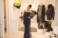 Fabulous - handmade knitted lacy dress, made of mohair