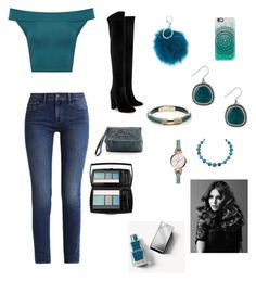 """""""COTD (teal)"""" by crystal-fullbuster ❤ liked on Polyvore featuring beauty, WearAll, Lucky Brand, Adrienne Landau, FOSSIL, Givenchy, Alexis Bittar, Casetify, Calvin Klein and Aquazzura"""