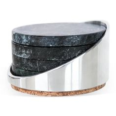 Check out this item at One Kings Lane! S/4 Soapstone Coasters w/ Holder