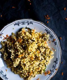 La ricetta per un cous cous invernale e al profumo di agrumi: cous cous all'arancia e broccoli saltati