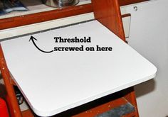 Add a Removable Counter to Your Galley: So you've already made sink & stove covers to create more counter space, but still need more. Or you need space when - gasp - you're using your stove and sink. Small Space Living, Small Spaces, Stove Covers, Tiny Boat, Sailing Cruises, Counter Space, Easy Diy Projects, Sailboat, Sink