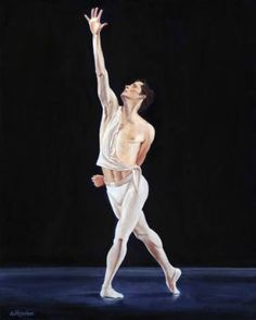 """Saatchi Art is pleased to offer the painting, """"Robert,"""" by Clive Duff Gordon. Original Painting: Acrylic on Canvas. Male Ballet Dancers, Dance Pictures, The Duff, Saatchi Art, Original Paintings, Statue, Artwork, Artist, Yoga"""