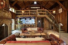 Barn and Entertainment/Music Performance Space - rustic - family room - new york - by Kelly & Co.