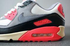 Nike Air Max 90 PRM Vintage Infrared Sneaker Spring 2013