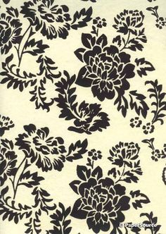 Crafty Paper - Suede Peony  - Ivory with Black Pattern, $1.95 (http://www.craftypaper.com.au/suede-peony-ivory-with-black-pattern/)