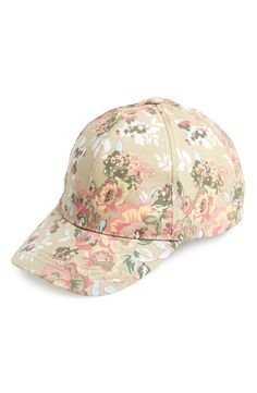 Yes, to this floral print baseball cap for spring!