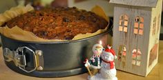 Our Christmas Cake (just out of the oven!)