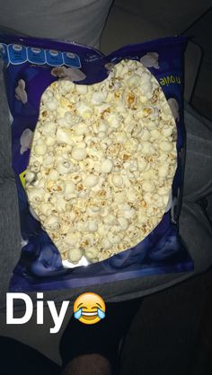 Diy popcorn plate  It actually worked pretty well When you are too lazy to get a plate  When you watch too much YouTube