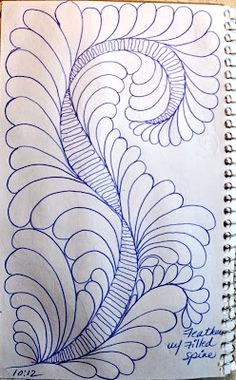 LuAnn Kessi: Sketch Book....Feathers w/Filled Spines