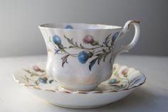 Royal Albert Brigadoon Scottish Thistles Teacup & Saucer