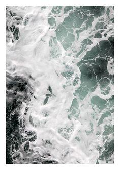Erfrischung gefällig? Print mit Wassermotiv, Meer und Brandung / home decor: artprint with waves, water ocean made by im nebenraum via DaWanda.com