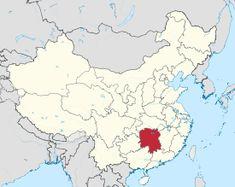 Mapa mostrando a localização da província de Hunan