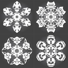 How To: Cut Your Own Star Wars Paper Snowflakes - my daughter and I HAVE to do this! She will flip!