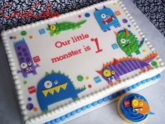 birthday monsters - by Corrie @ CakesDecor.com - cake decorating website