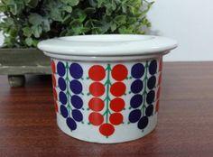 Vintage ARABIA Finland POMONA Currants Jam Lidded Jar RAIJA UOSIKKINEN