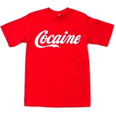 Rob Pruitt x Opening Ceremony Rob Pruitt Cocaine Tee ($30) ❤ liked on Polyvore featuring men's fashion, men's clothing, men's shirts, men's t-shirts, tops, shirts, t-shirts, tees, mens cotton t shirts and mens red t shirt