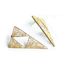 : Amandina : | Joyería en Filigrana | Filigree Jewelry | AM18 Arete 3 triángulos