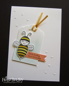 Little Baby Bumblee Bee - Stampin Up - baby card - handmade - Just Spiffing - Fiona Bradley